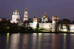 Het klooster van het Novodevichyklooster, Moskou, Rusland Stock Afbeeldingen