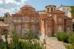 Het klooster van Hosiosloukas, Griekenland Stock Afbeeldingen