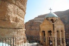 Het klooster van Hozeva in Israël stock afbeelding