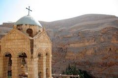 Het klooster van Hozeva in Israël stock afbeeldingen