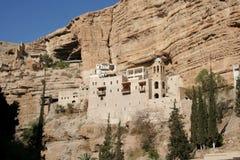 Het klooster van Hozeva in Israël stock fotografie