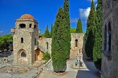 Het klooster van Ialyssos Stock Afbeeldingen