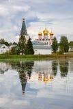 Het klooster van Iversky in Valday, Rusland Stock Foto's