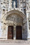 Het Klooster van Jeronimos in Belem Stock Foto's
