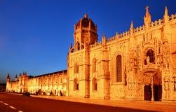 Het Klooster van Jeronimos, Lissabon in Portugal Royalty-vrije Stock Fotografie