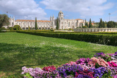 Het Klooster van Jeronimos, Lissabon, Portugal Royalty-vrije Stock Foto's