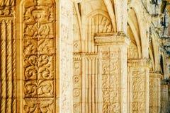 Het Klooster van Jeronimoshieronymites van Heilige Jerome In Lisbon, Portugal wordt gebouwd in Portugese Recente Gotische Manueli royalty-vrije stock fotografie