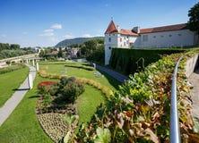Het Klooster van Klosterneuburg in de zomer Lager Oostenrijk, Europa Royalty-vrije Stock Foto