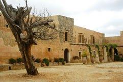 Het Klooster van Kreta Arkadi royalty-vrije stock fotografie