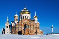 Het klooster van lofwaardig-Nikolaev van Belogorsky Royalty-vrije Stock Foto