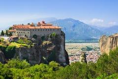 Het klooster van Meteora in Griekenland stock afbeeldingen