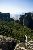 Het klooster van Meteora, Griekenland royalty-vrije stock foto's