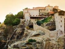 Het Klooster van Meteora - Griekenland Stock Foto
