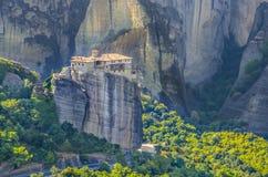 Het klooster van Meteorarousanou, Griekenland Stock Afbeeldingen