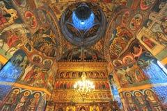 Het klooster van Moldovita - binnenlandse heiligenschilderijen Royalty-vrije Stock Fotografie