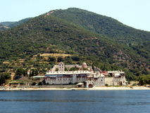 Het klooster van MT Athos Stock Afbeeldingen