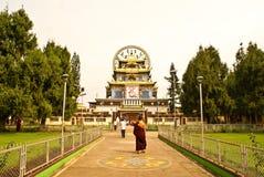 Het Klooster van Namdroling in India. Stock Afbeeldingen