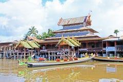 Het Klooster van Ngaphe Kyaung, Inle-Meer, Myanmar stock afbeelding