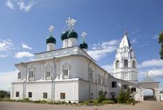 Het Klooster van Nikitsky Aankondigingskathedraal en klokketoren Pereslavl-Zalessky, Yaroslavl-gebied stock afbeelding