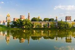 Het Klooster van Novodevichy in Moskou stock fotografie