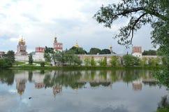 Het klooster van Novodevichy moskou royalty-vrije stock foto