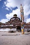 Het klooster van Pelkor, Tibet Stock Foto