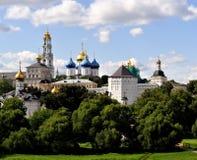 Het klooster van Posad van Sergiev Stock Foto's