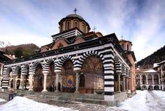 Het klooster van Rila stock afbeeldingen