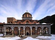 Het klooster van Rila stock foto