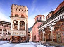 Het klooster van Rila stock afbeelding