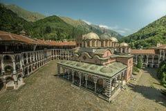 Het klooster van Rila Stock Fotografie