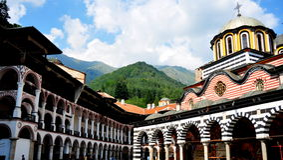 Het Klooster van Rila. Bulgarije Royalty-vrije Stock Fotografie