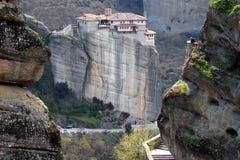 Het Klooster van Roussanou Stock Foto's