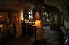 Het Klooster van Rupester in Orheiul Vechi, Moldova Royalty-vrije Stock Afbeeldingen