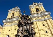Het klooster van San Francisco, centraal Lima, Peru royalty-vrije stock afbeeldingen