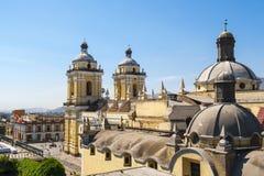 Het klooster van San Francisco, centraal Lima, Peru stock afbeelding