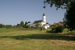 Het klooster van Sanktoswald Stock Fotografie