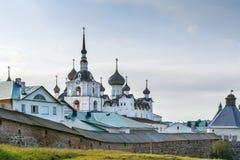 Het klooster van Solovetsky, Rusland stock afbeelding