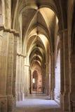 Het Klooster van Spanje Poblet, in Catalonië stock foto