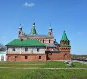 Het klooster van Starayaladoga Sinterklaas stock afbeeldingen