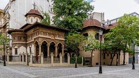 Het Klooster van Stavropoleos Stock Fotografie