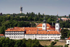 Het klooster van Strahov Royalty-vrije Stock Afbeeldingen