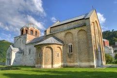 Het Klooster van Studenica stock foto's