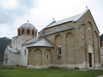 Het klooster van Studenica stock afbeeldingen
