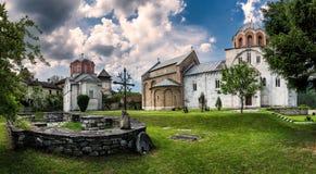 Het klooster van Studenica, Servië stock fotografie