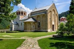 Het klooster van Studenica, Servië Stock Afbeelding