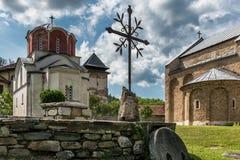 Het klooster van Studenica, Servië Stock Foto's