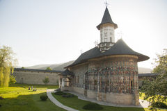 Het Klooster van Sucevita Stock Afbeeldingen