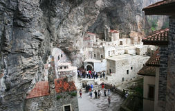 Het Klooster van Sumela, binnen stock foto's