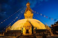 Het klooster van Swayambhunath Stock Foto